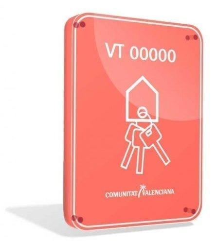Tourist Licence Plaque Valencia Comunity