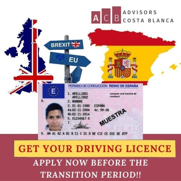 SPANISH DRIVING LICENCE BEFORE BREXIT