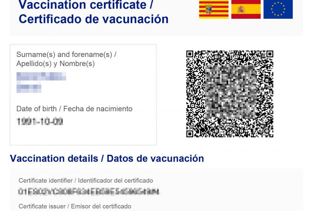 european Vaccination Certificate